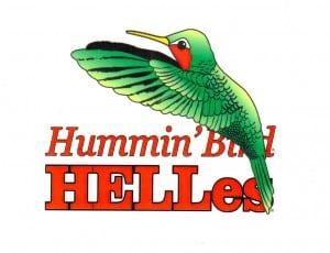 The Hummin'Bird Helles Golden Munich Lager fosters awareness about North Carolina's hummingbirds. ©Red Oak Brewery